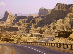 View of Coastal Highway, through Hingol National Park