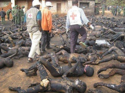 Rohingya Community Genocide - Burned Bodies