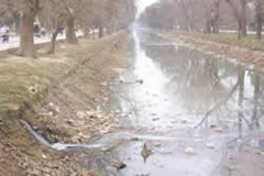 Lahore canal with sewerage water