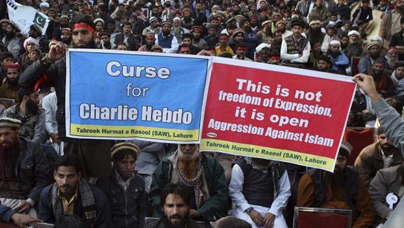Muslims Protest Charlie Hebdo