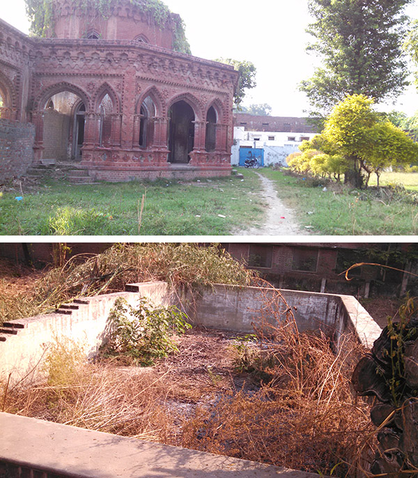 (1st pic) Sardar sahib's new house which was under construction at the time of India-Pakistan partition. --- (2nd pic) Remains of a swimming pool in the court yard of new house.